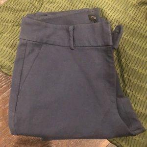 Size 6 Ann Taylor smoke blue gray ankle pants